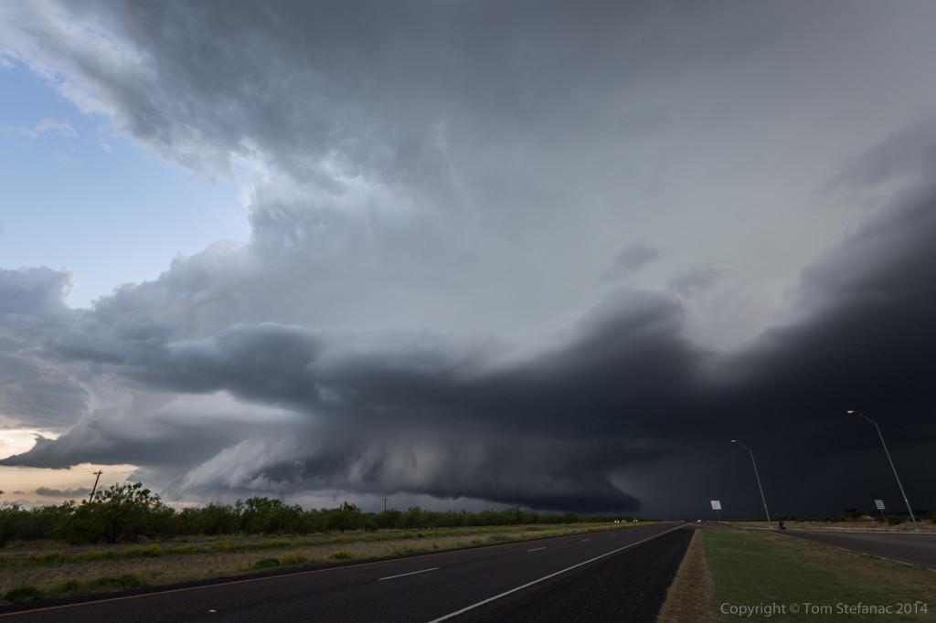 Vibrant Wall Cloud - Tom Green Co. TX