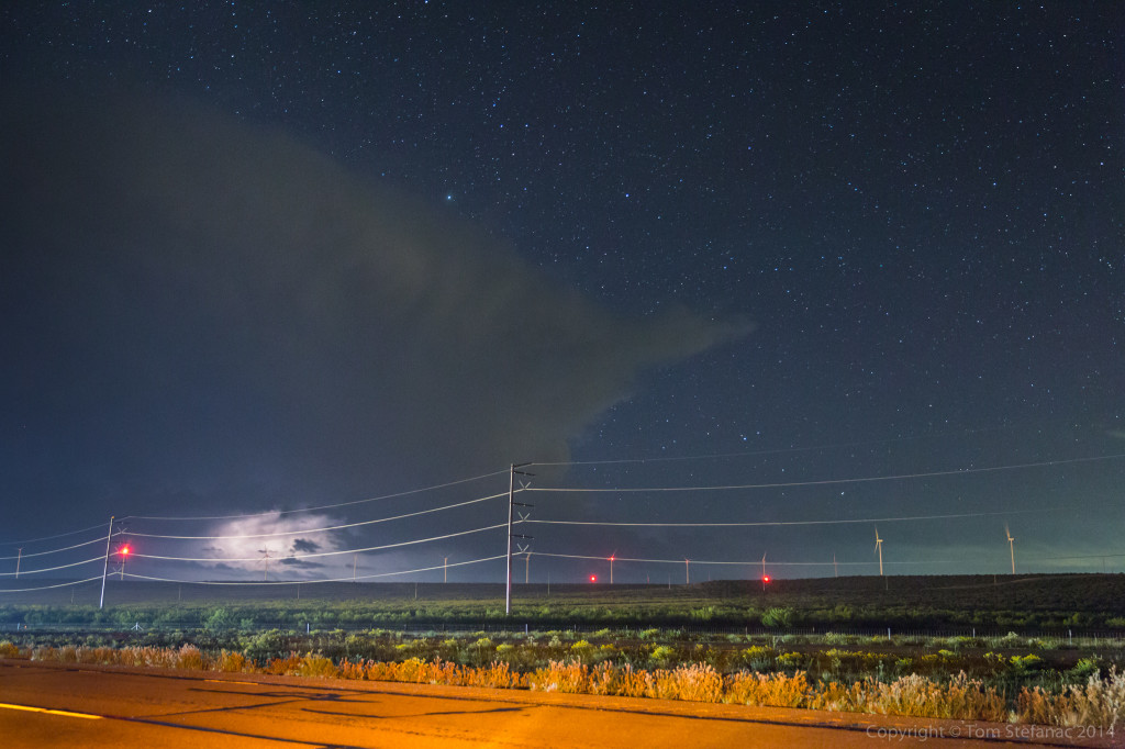 Lightning Under A Star Filled Sky - Sterling Co. TX