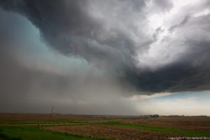 Nebraska Supercell - Hail Shaft