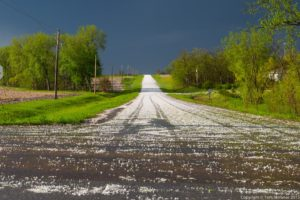 Hail Coated Road