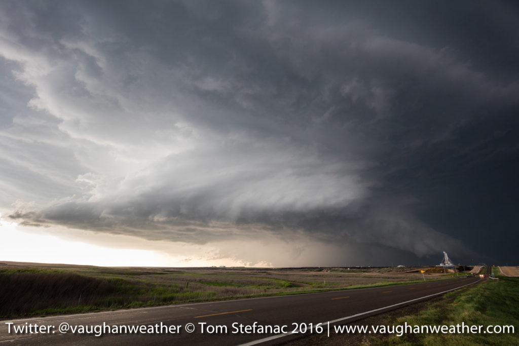 Supercell Thunderstorm - Skinny Funnel Cloud - Logan County Kansas