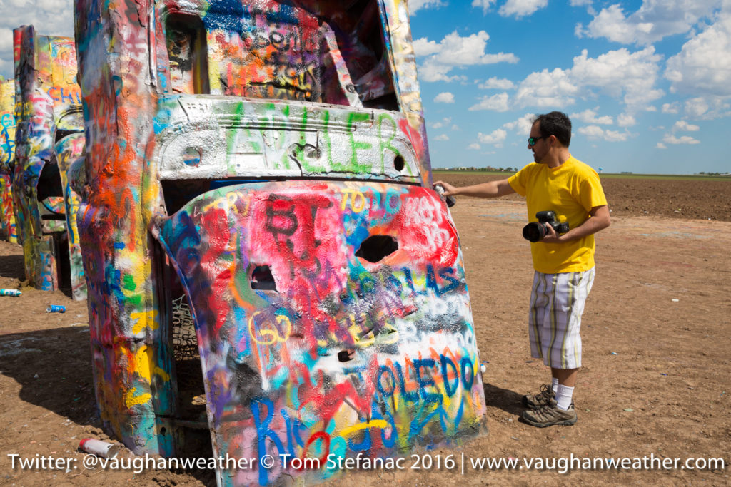 Painting At The Cadillac Ranch