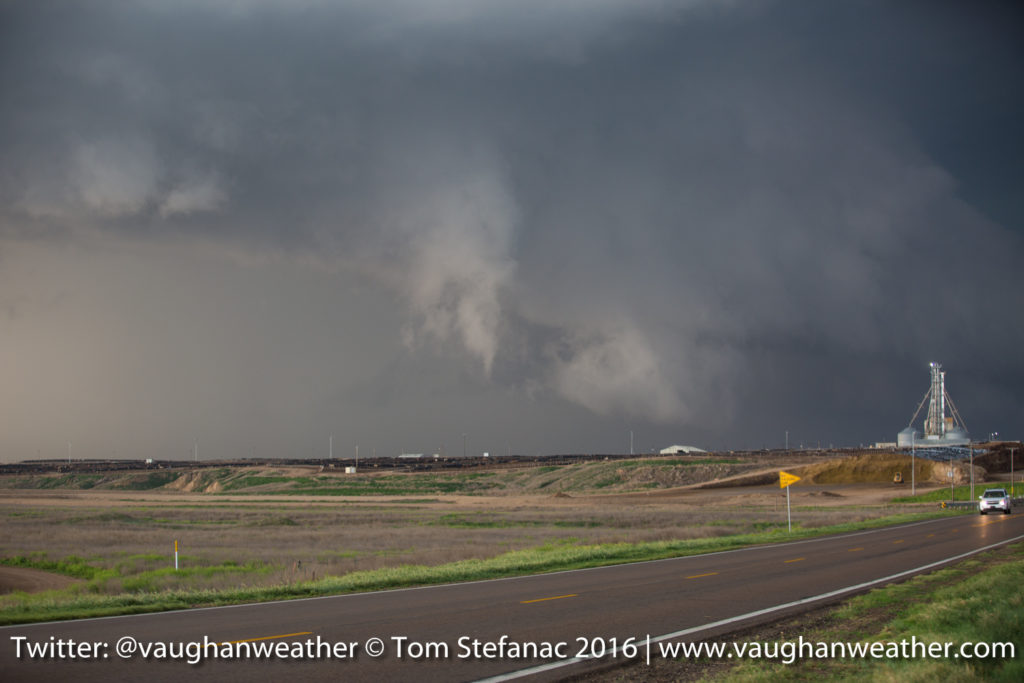 Ragged Funnel - Supercell Thunderstorm - Skinny Funnel Cloud - Logan County Kansas