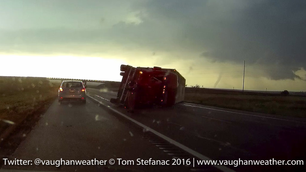 Truck Blown Over - Dodge City Kansas