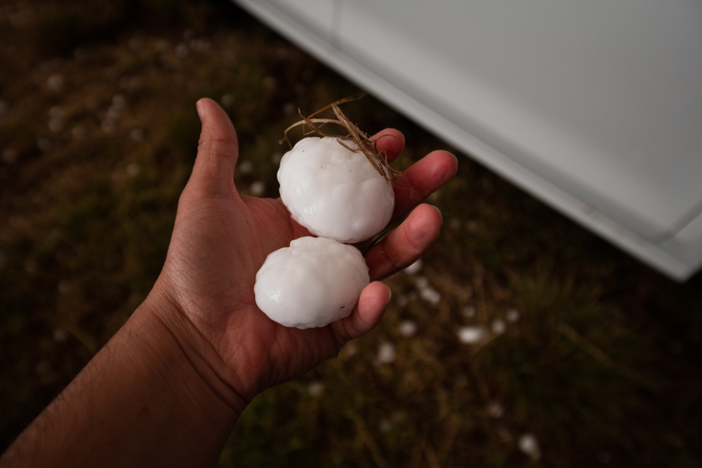 Large Hail near Masterson, Texas