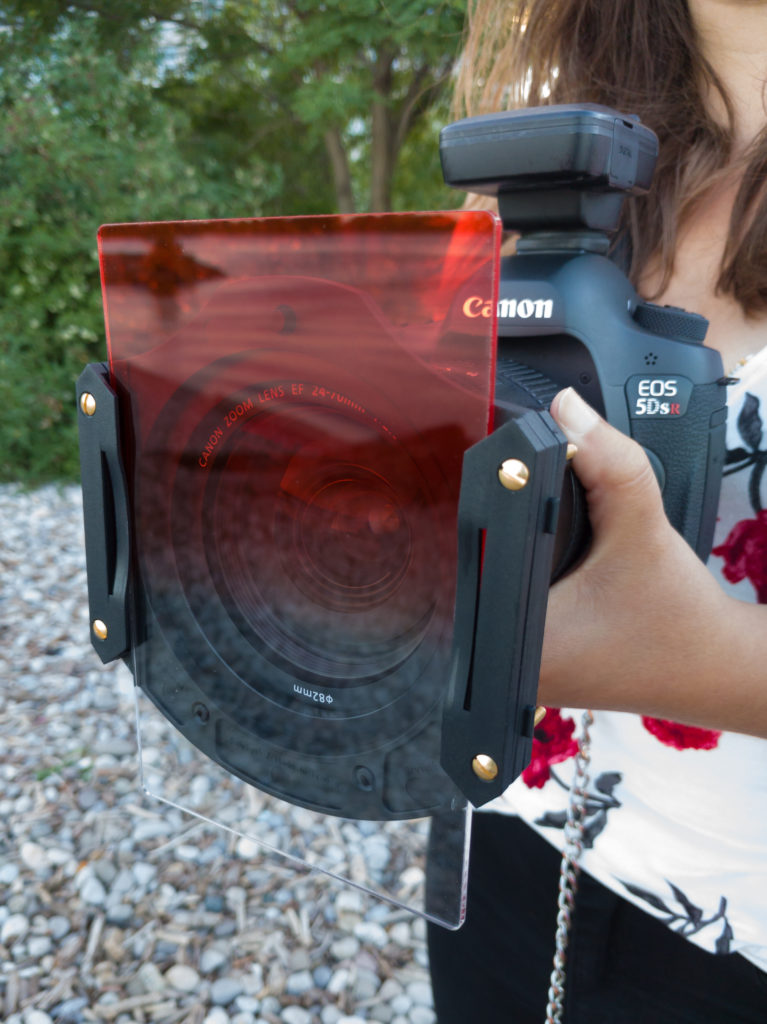 The Canon 5DSR with a Cokin Z-Pro sunset filter